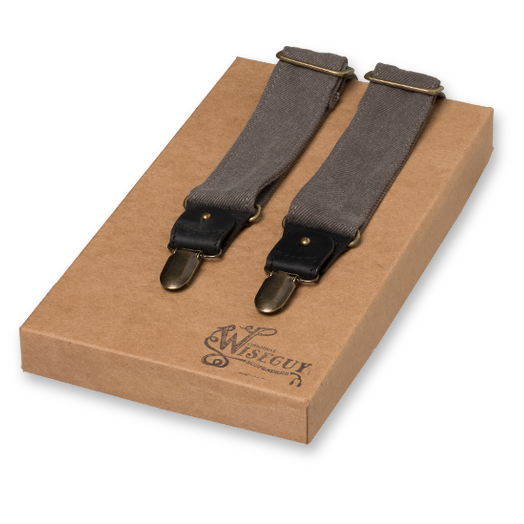 Wiseguy Suspenders - The Duck Canvas Gris (1)