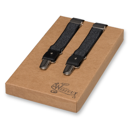 Wiseguy Suspenders - The Herringbone Gris (1)
