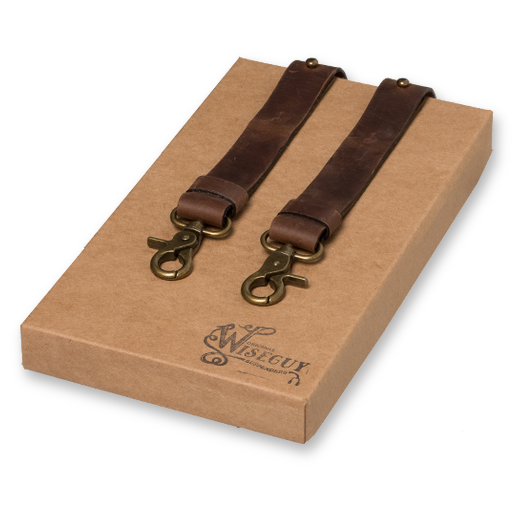 Wiseguy Suspenders - Crazy Horse Marron (1)