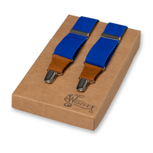 Wiseguy Suspenders - Bleu Royal (1)