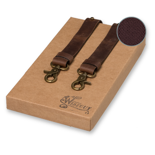 Wiseguy Suspenders - Crazy Horse Flex Marron     (1)